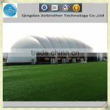 Inflatable wide span architecture membrane building tent