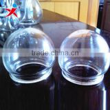 Manufacturer of custom led lamp glass/explosion-proof glass lamp shade, the glass ball half outdoor shield