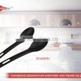 New as seen on tv products 2014 plastic nylon mini spoon with hole black handle