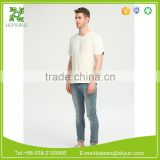 wholesale hemp jersey fabric t shirt low cost high quality