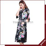 Bridal silk bath robe Custom made women robe Long Nightgown 0609004