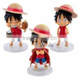 Sveda Cute action figure One Piece Luffy PVC Figure doll set of 3pcs Q version action figure One Piece