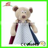 Kids Baby Comforter Teething Rattle Soft Toy Teddy Bear Security Snuggle Blanket