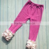 Top grade OEM quality purple fold latest design girl pants