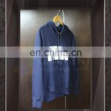 Wholesale High Quality Logo Printing men Navy Blue hoodie