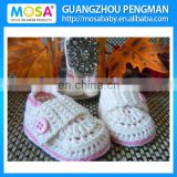 2014 Fashion Baby Girl Shoes Crochet White Pink Mary Jane For Newborn Girl To Toddler Baby Booties Handmade