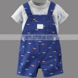 China manufacture baby boy pants wholesale Infant baby harem Pants with tshirt boys new design trousers