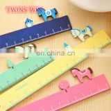 New Zealand 2018 new products office supplies and stationery promotion cute fancy animal shaped wooden ruler