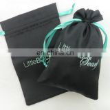 Black Jewelry Satin Gift Favor Bag Pouch
