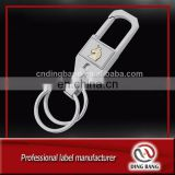 Professional Double Electroplated More Chain Type And Metal Hooks Type Custom Business Gift Gold Logo Classical Keychain