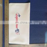 Customized white cover printed pvc document sleeve size at 13*25cm