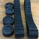 Robot Rubber Track 100*20*76 with 250mm Diameter Sprockets
