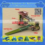 sluice box and water pump placer with gold mining machine/ mobile trommel screen