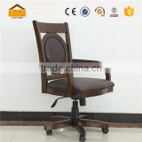 hot sale wooden black leather office chair