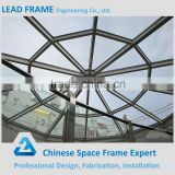 Morden large steel space frame glass roof dome