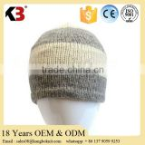 Wholesale knitted 100% wool blend beanie doubel layer men's outdoor ovwersized fashion beanie hat
