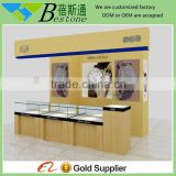 Brand retail shop interior design, maple wood wall mounted watch display case