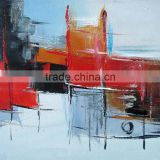 Hot Seller New Hand Painted Wall Art Works Abstract Oil Painting for Hotel Home Decoration