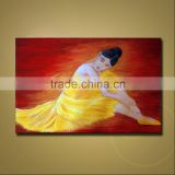 Unique design high quality handmade resting ballerina oil painting
