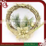 Glitter Christmas Garland Pine Flower Xmas Tree Decorations Party Ornaments Artificial Wholesale Suppliers