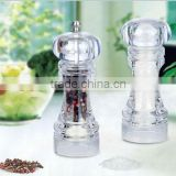 acrylic pepper grinder & salt shaker set