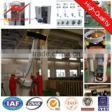 30m hot dip galvanized 12 side high mast pole,led sports stadium light with lifting system for outdoor