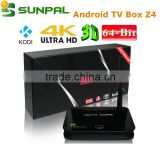 Private id live tv apk supported iptv android tv box Z4 octa core RK3368 CPU Android 5.1 Lollipop Smart tv box Z4