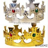 Rhinestone Gold Plastic King Prince Princess Queen Crown Fashion Kids Crown