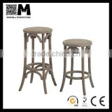 cheap antique vintage crossback chair matching stool wood bar stool