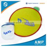 High Technology pp material foldable nylon frisbee fan