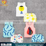 INS new style cute baby summer kids clothing fashion baby cotton printed vest kids cotton waistcoats