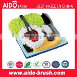 7pcs car care kit/cleaning cloth/chenille mitt /tire brush/wheel brush/glass scraper/interior dust brush