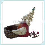 Decorative Red Bird christmas resin candler