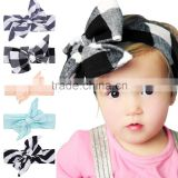 Hot-sales kids new DIY bow Headband girl cotton bow Headband Toddler baby Large DIY BOW Headband wh-1819