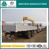 10 Wheels Howo 5 Tons Truck Mounted Crane with Telescopic Boom for Sale