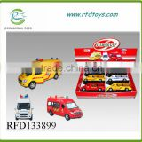 Pull back alloy ambulance toy with light and music,pull back car