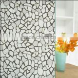 competitive protective PVC Cobblestone pattern film for window glassd bathroom ,home and office glass film with cheap price