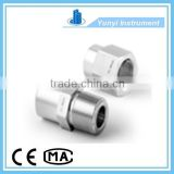 Instrumentation Double Ferrule Stainless Steel 316 Tube Fittings Straight butt weld pipe fitting Connector