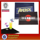 3D OEM logo soft pvc rubber custom bar spill mat