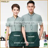 Restaurant Hotel Unisex Waiter Waitress Uniform Breathable Fabric Bar Staff Work Uniform For Housekeeper