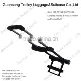 iron/ plastic/metal extendable/adjustable/removable trolley handle with wheel for outside suitcase