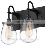 Voluptuous Double Glass Diffusers Wall Lights with Vintage Incandescent Bulbs for Castle
