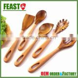 New style fashion 5pcs wooden spoon utensils set                                                                         Quality Choice
