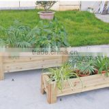 HL071 Rectangle Wood Planter outdoor wooden furniture