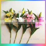 Artificial lilies tiger red lily homes flower for sale