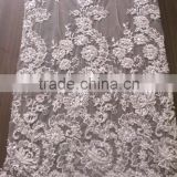 embroidery lace with hand rhinestone & sequin with factory price apparel wedding dress