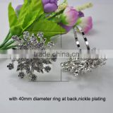 (M0679-ring) 100pcs/lot ,Wedding Flower Rhinestone Napkin Rings,55mm diameter ,40mm ring ,nickle or light rose gold plating