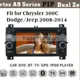 "6.2"" HD 1080P BT TV GPS IPOD Fit for Chrysler 300C/Jeep/dodge2005-2007 car radio player gps navigation"