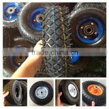 China supply of 10 inch small wheel pneumatic rubber wheel for hand trolley