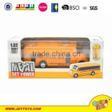 China wholesale 1:32 pull back metal school bus Model car